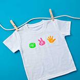 T-Shirt mit Schere, Stein, Papier