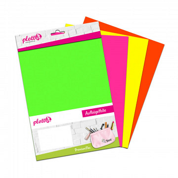 plottiX PremiumFlex Heattransfer neon bundle 20cm x 30cm (4 pcs.)
