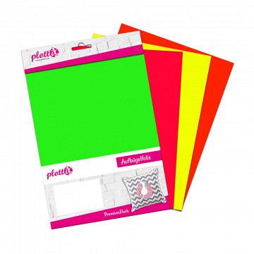 plottiX PremiumFlock Neon Bundle 20cm x 30cm (4 Folien)