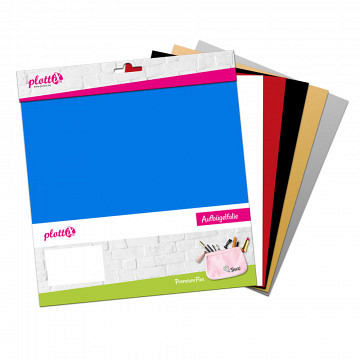 plottiX PremiumFlex Heattransfer 30cm x 30cm bundle 1 (6 pcs.)