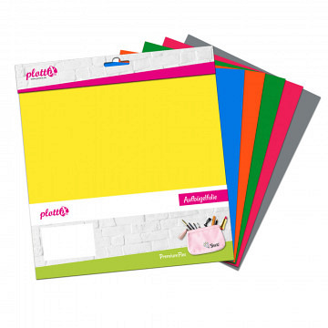 plottiX PremiumFlex Heattransfer 30cm x 30cm bundle 2 (6 pcs.)