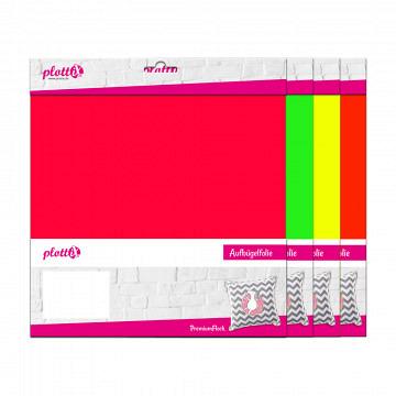 plottiX PremiumFlock neon 30cm x 30cm - 3er-Pack