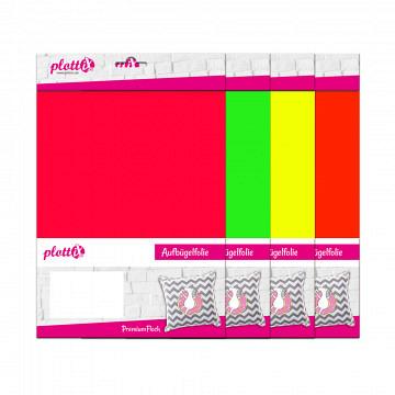 plottiX PremiumFlock neon 20cm x 30cm - 3er-Pack