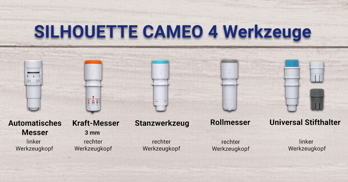 SILHOUETTE CAMEO 4 Werkzeuge