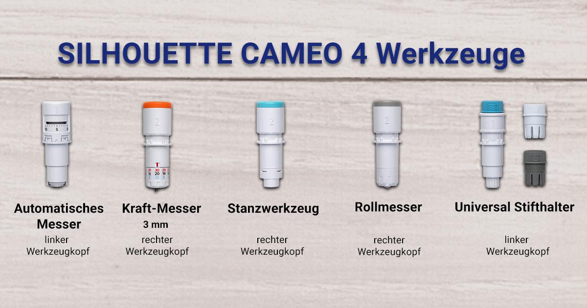 Werkzeuge der SILHOUETTE CAMEO 4 PRO