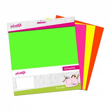 plottiX PremiumFlex Neon Bundle 30cm x 30cm (4 Folien)