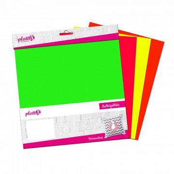 plottiX PremiumFlock Neon Bundle 30cm x 30cm (4 Folien)
