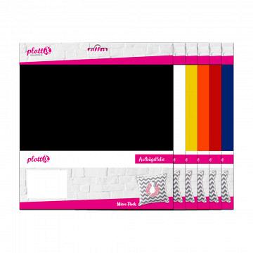 plottiX MicroFlock 30cm x 30cm - 3er-Pack