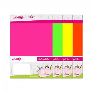 plottiX PremiumFlex Neon 20cm x 30cm - 3er-Pack