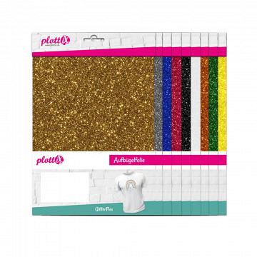 plottiX GlitterFlex 20cm x 30cm - 3er-Pack