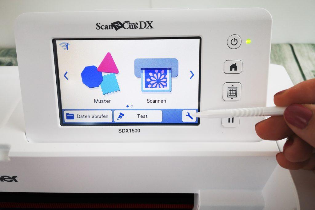 SDX1500 Einstellungsmenu