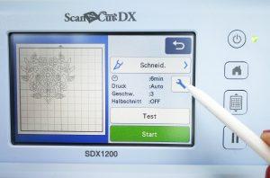 ScanNCut DX - Schneiden einstellen
