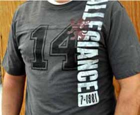T-Shirt mit Textilfarbe individuell gestaltet