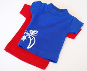 Blaues T-Shirt mit weißem Flock