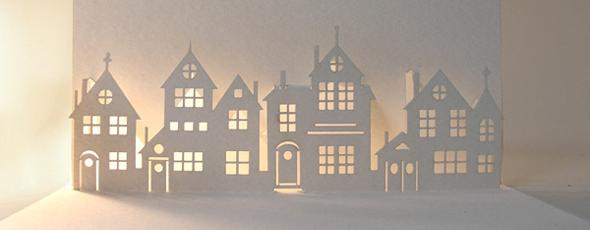 Weihnachten Häuser