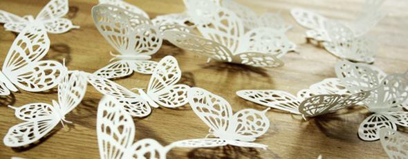 Papierschmetterlinge