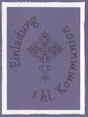 Die fertige Kommunionkarte