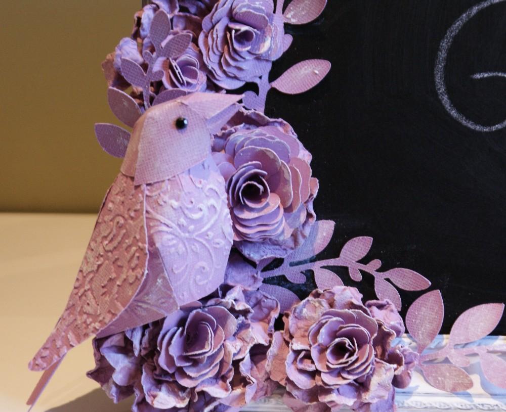 3D Vogel mit dem Hobbyplotter SILHOUETTE CAMEO als Deko geschnitten