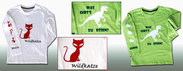 Kinder-Shirts mit lustigen Tiermotiven
