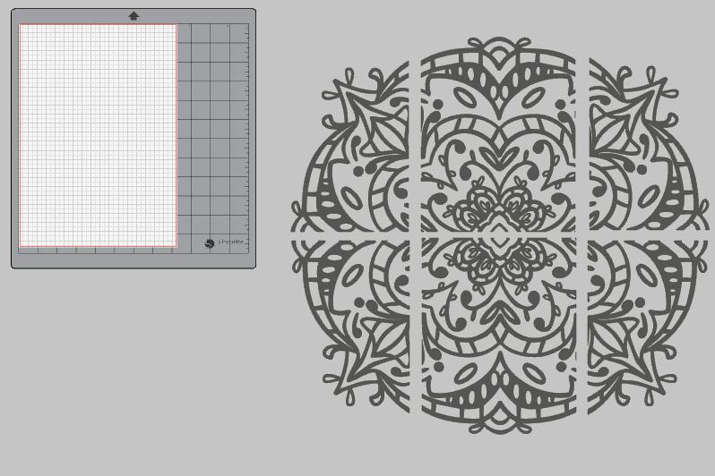 Design in 6 Teile aufgeteilt