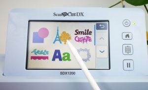 ScanNCut DX Muster auswählen, zweite Ebene