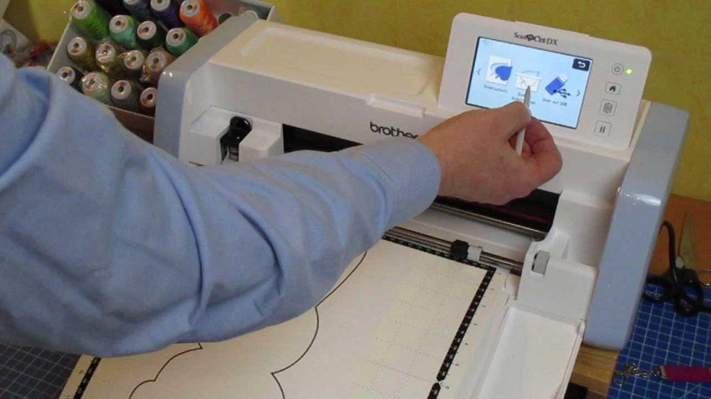 Scan zur Datei mit dem ScanNCut DX1000