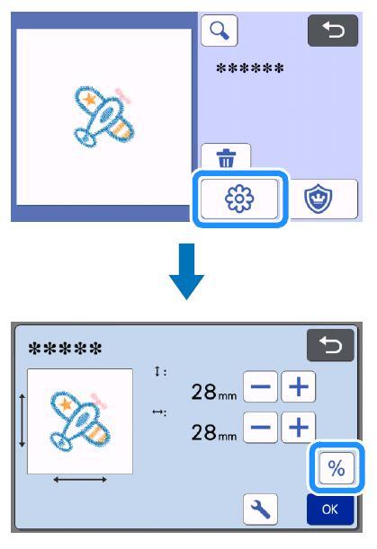 Musterbearbeitungs-Bildschirm für Stickliniendaten