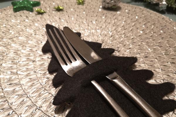 Besteckhalter geplottete Tischdekoration aus Filz