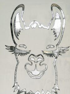 Silhouette Siebdruck Schablone