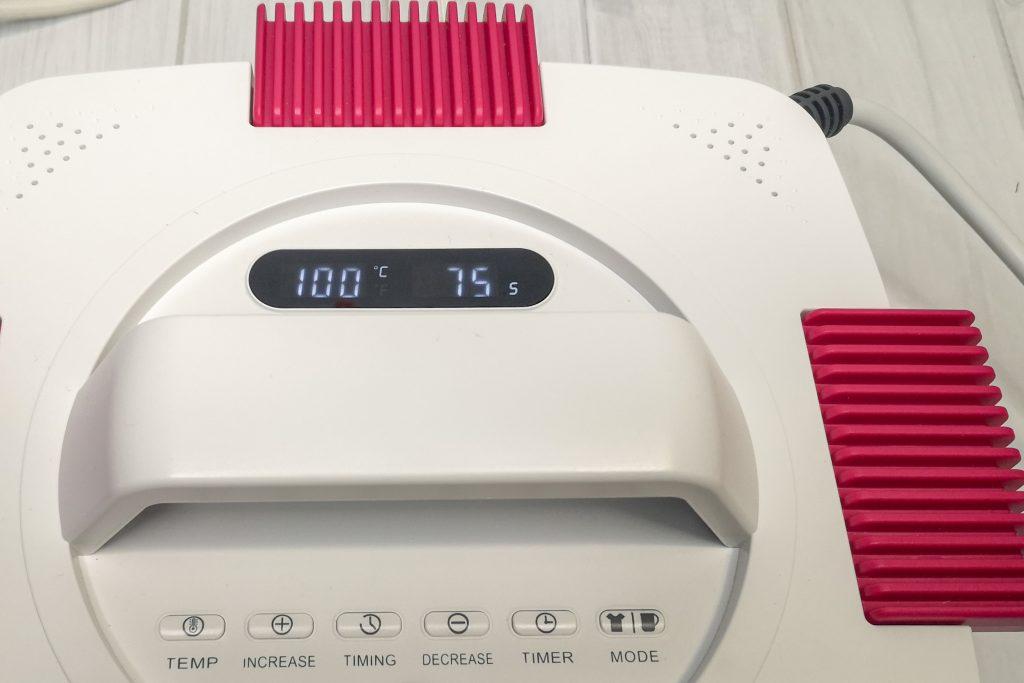Aufheizen der Tassenpresse auf 100°C