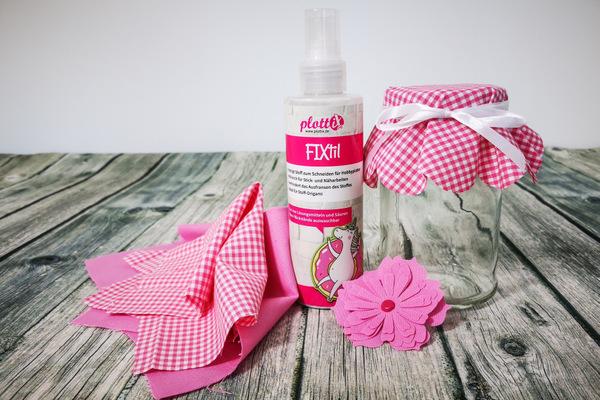 Anwendungsbeispiel FIXtil Textilstabilisator