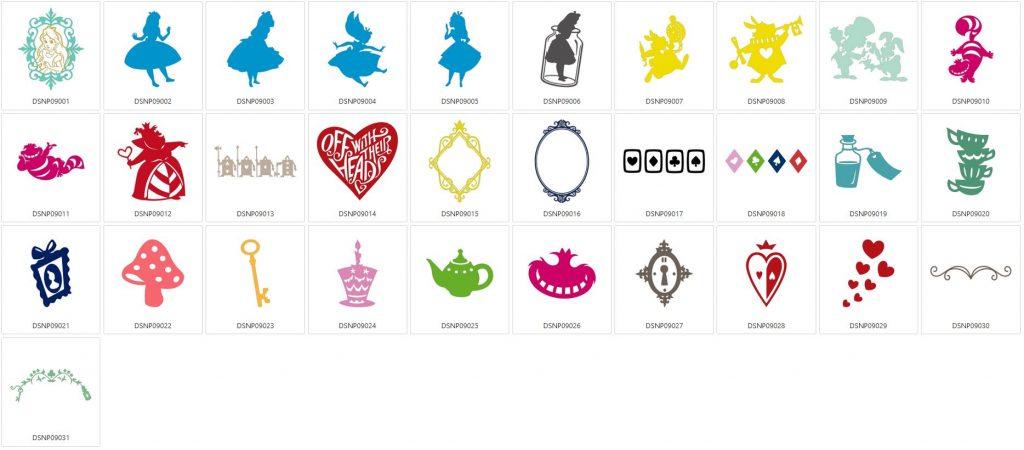 Alice im Wunderland - 31 Designs