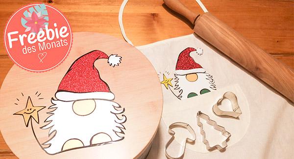 Weihnachtswichtel mehrfarbig plotten