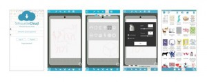 Verschiedene Bildschirme von Silhouette Studio Mobile