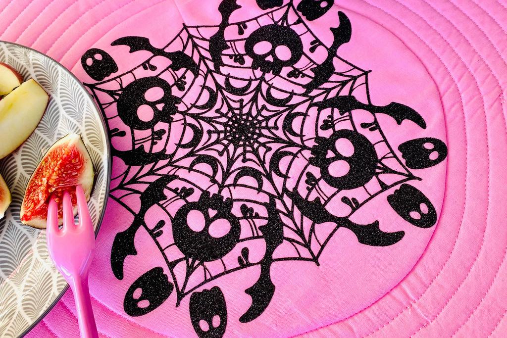GlitterFlex schwarz Mandala Tischset