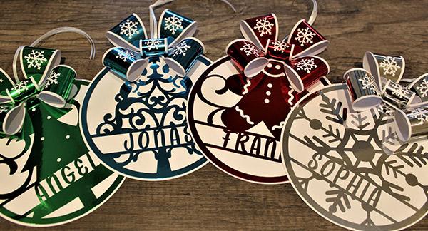 Glanzvolle Geschenkanhänger für Weihnachten
