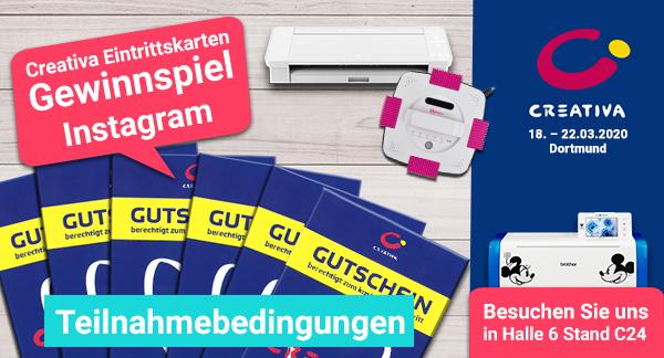 Instagram - Gewinnspiel:  5 x 2 Eintrittskarten für die CREATIVA 2020 in Dortmund