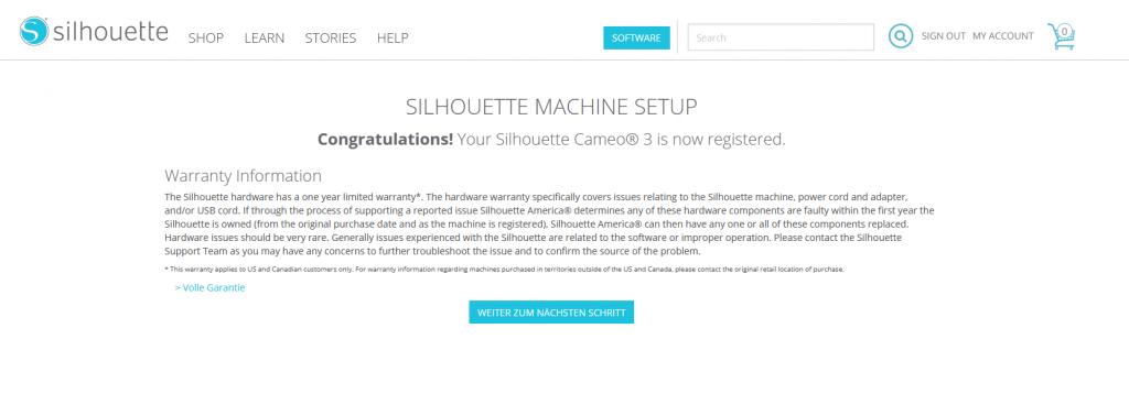 Du hast deine Maschine erfolgreich registriert!