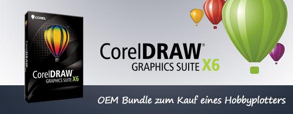 Jetzt neu auf hobbyplotter.de: Corel DRAW Graphics Suite X6