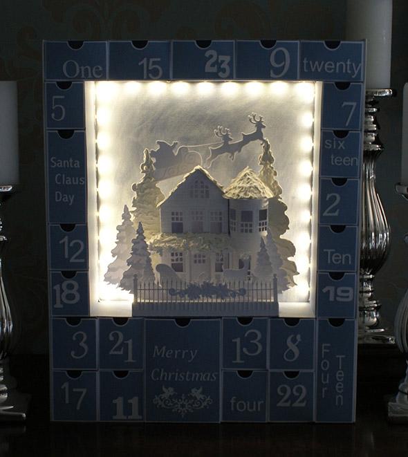 Adventskalender basteln der auch im Dunkeln gut aussieht.