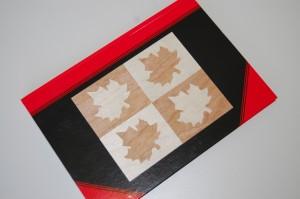 Schreibkladde mit selbst gemachten Intarsien