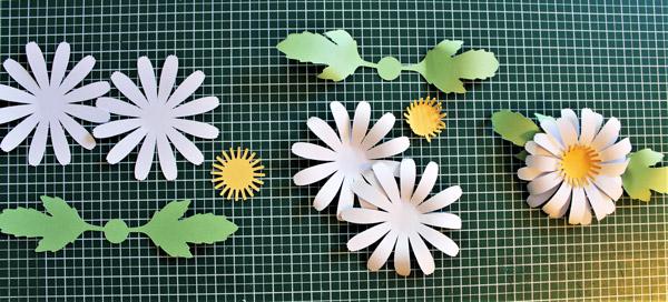 einzelne Blütenteile für die Frühlingsdekoration