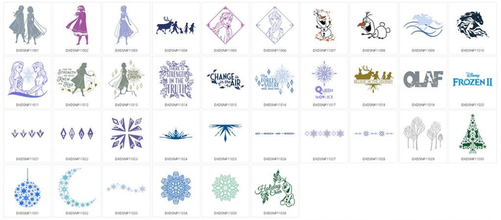 Die Eiskönigin 2 - 36 Designs
