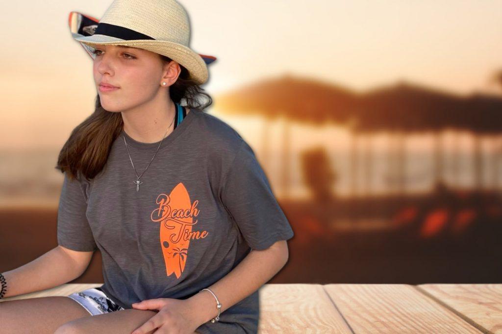 PremiumFlex Hobbyplotterfreebie Beach time auf Shirt