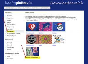 Buchstaben-Applikation auf dem Downloadserver