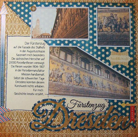 Ein Blick auf Dresden – Eine Scrapbookseite