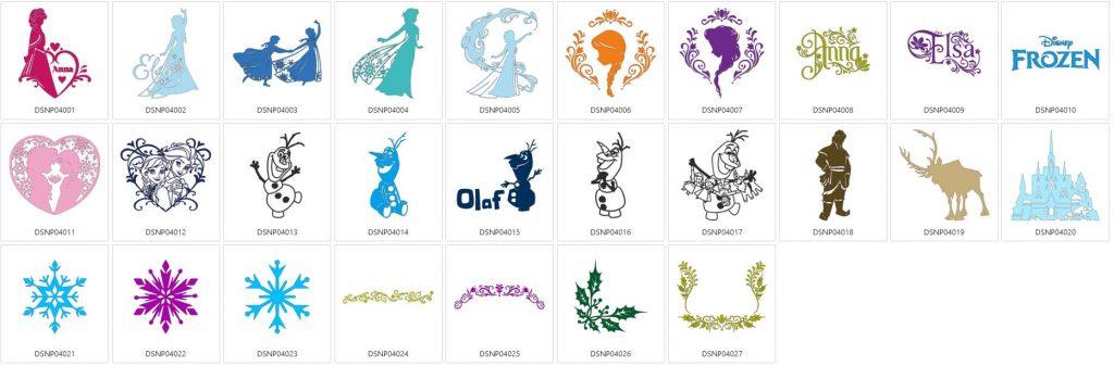 Die Eiskönigin - 27 Designs