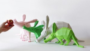 3D-Skulptur der Erdferkel bei der Fütterung