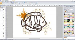 Fisch in PE-Design zum Entwurf maritimer Applikationen