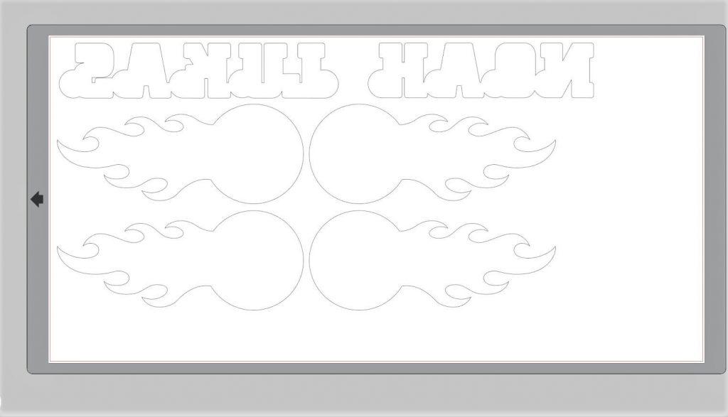 Schriftzug LUKAS und NOAH + Fußball gespiegelt